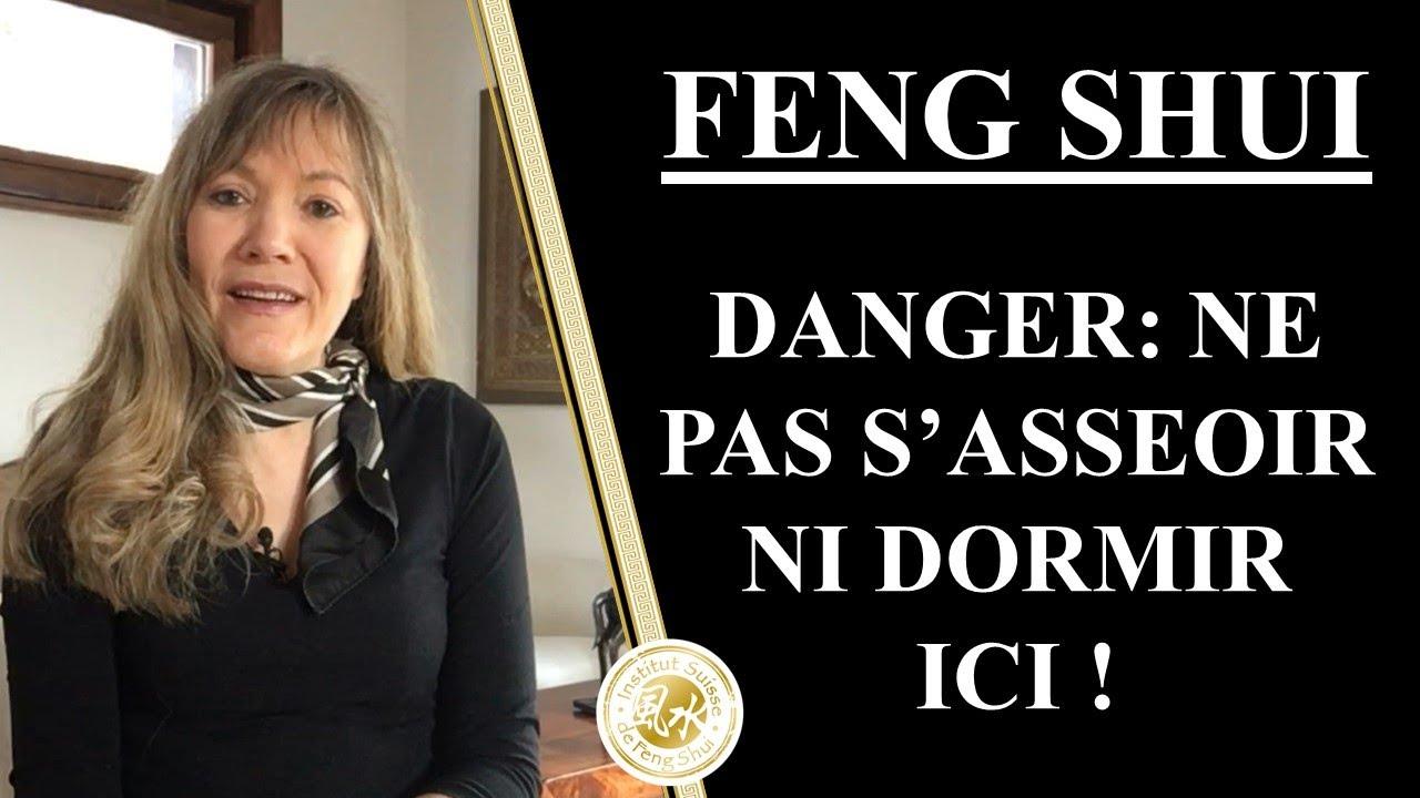 Chambre et bureau Feng Shui; ne dors pas et ne t\'assieds pas ici !