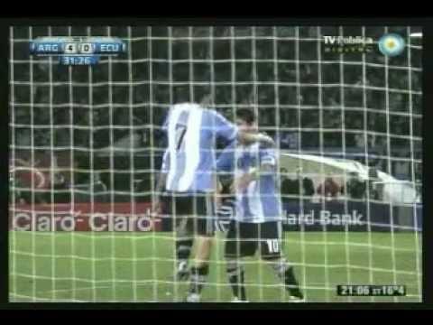 Gol de Di Maria remate exquisito de primera - Argentina 4 - Ecuador 0