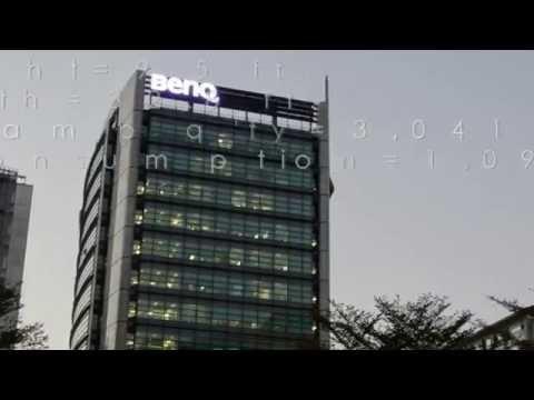 Sky Sign / Building Sign Installation - Artled R44 LED Lamp (benq)