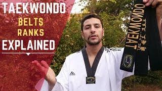 Taekwondo Belts and Raฑks Explained - All Organizations (WT, ITF, ATA)