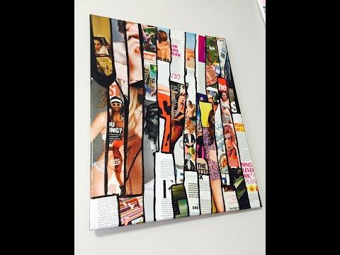 Easy DIY Magazine Canvas Wall Art!