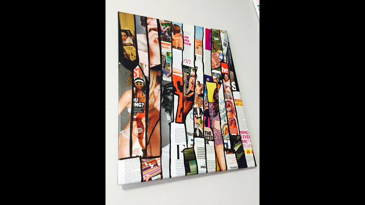 Easy DIY Magazine Canvas Wall Art! - YouTube