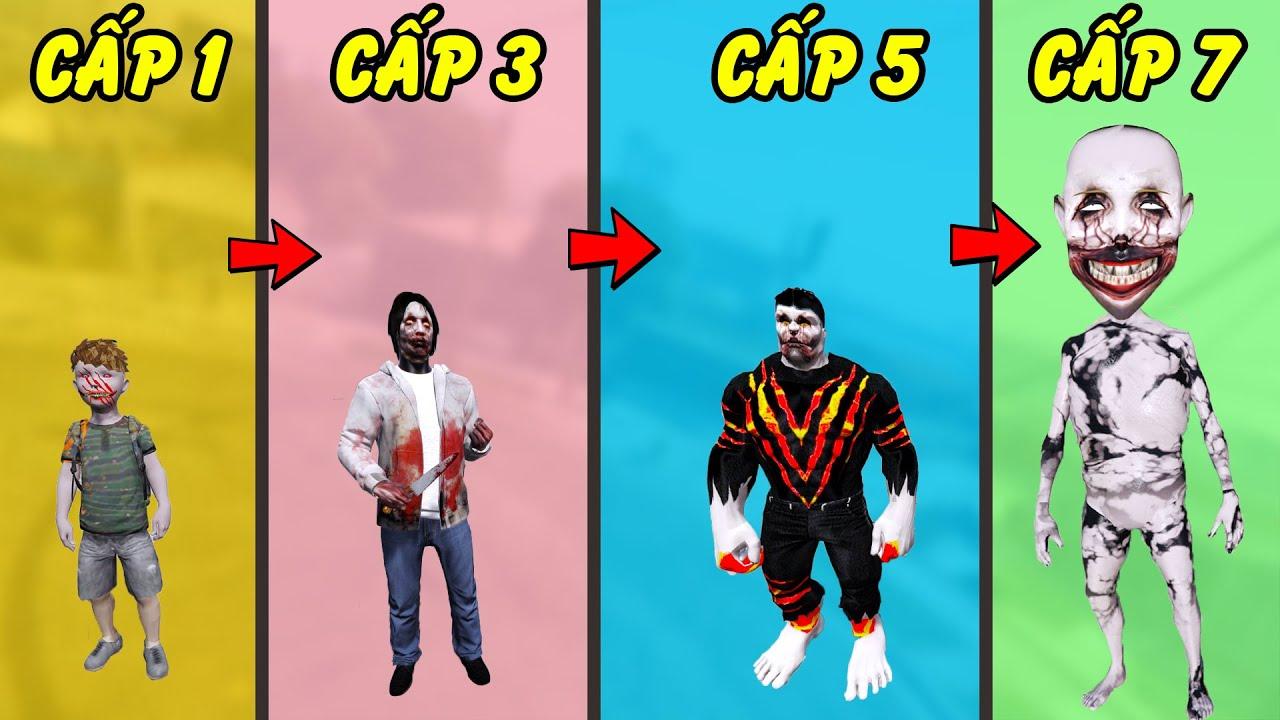 GTA 5 - Tôi là Jeff the killer tiến hóa từ Jeff trẻ trâu đến Jeff nguyền rủa hắc ám khổng lồ | GHTG