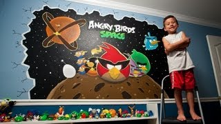 Angry Birds Space Wall Mural Painting - 2 Day Time-lapse