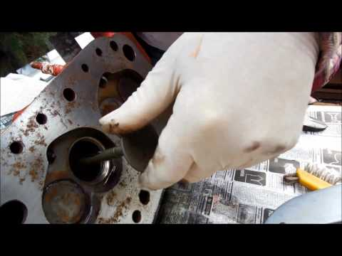 MGB Head - Remove Valves / Pre-Lube / Replace - Red Rusted Engine