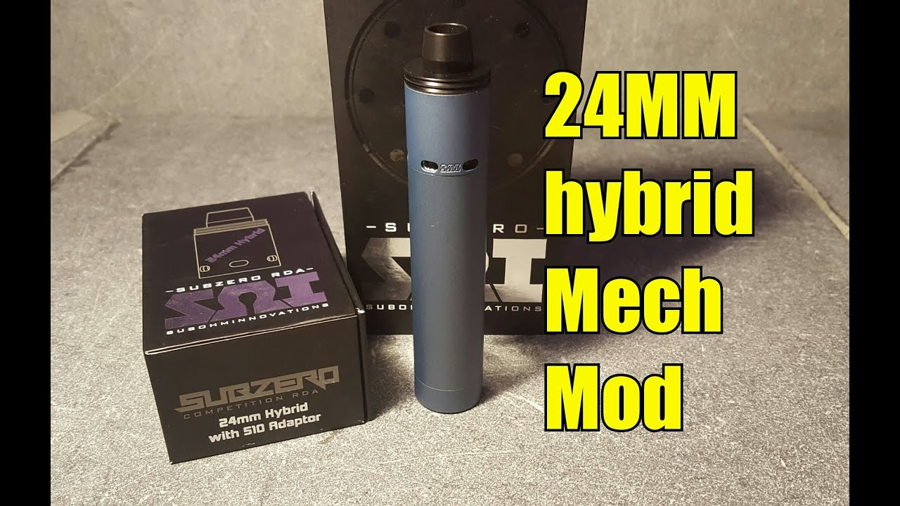 shorty subzero mod with the subzero 24 mm rda in hybrid mode youtube