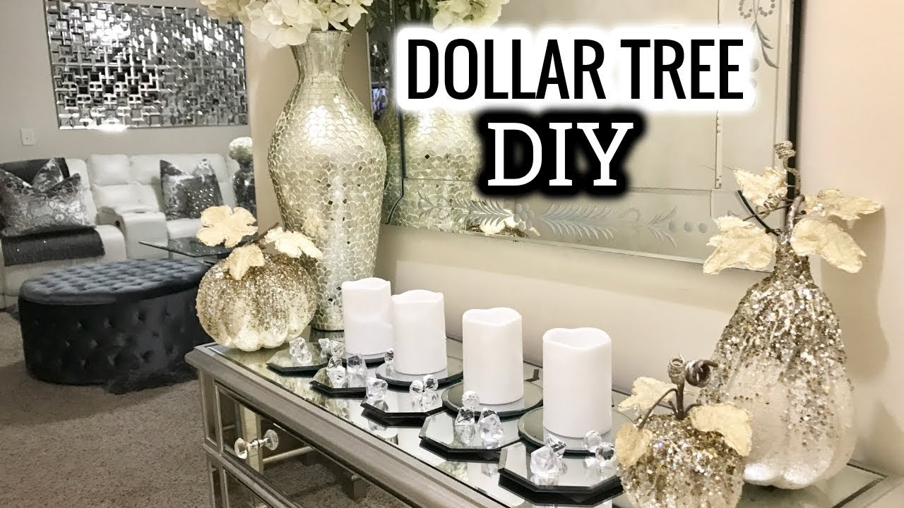 Diy Living Room Table Decor Colors With Gray Couch Dollar Tree Mirror Runner Home Idea 2017 Youtube