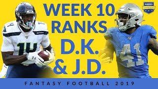 Week 10 Fantasy Football Ranks - D.K. Metcalf, A.J. Green, J.D. McKissic