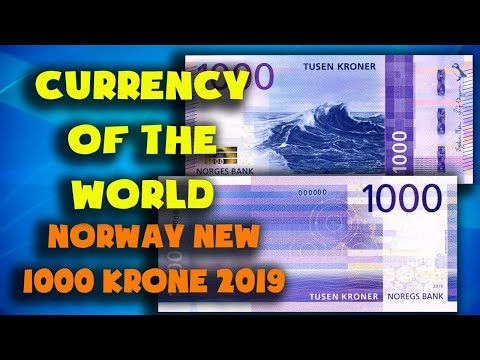 Currency Of The World - Norway. New 1000 Krone Banknote 2019.1000 Kroner 2019. Exchange Rates Norway