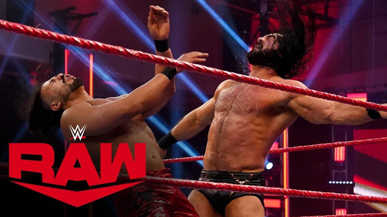 Drew McIntyre vs. Andrade – Champion vs. Champion Match: Raw, April 13, 2020