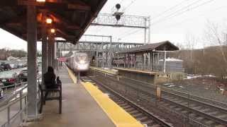 Rare Catch, Amtrak P42 through Canton Junction!