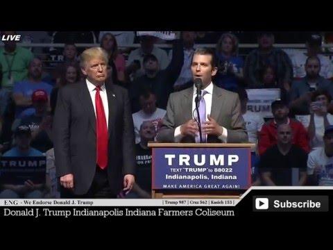 "Donald John ""Don"" Trump Jr Speaks at Donald Trump Rally Indiana Indianapolis Amazing Little Speech ✔"