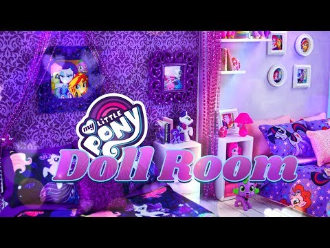 DIY - How To Make: My Little Pony Doll Room | Easy To Store Dollhouses