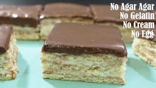 Layered Sweet Dessert Recipe – No Egg & Oven – Without Agar Agar And Custard Powder