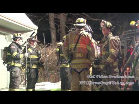 Fire at 59 Brook Farm Road in Bedford, New York