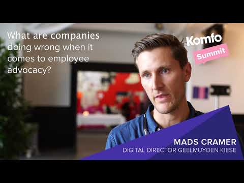 Komfo Summit   with Mads Cramer on employee advocacy:
