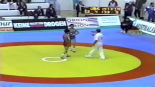 1991 Senior European Greco Championships: 52 kg Alfred Ter-Mkrtchyan (USSR) vs. Ismo Kamesaki (FIN)