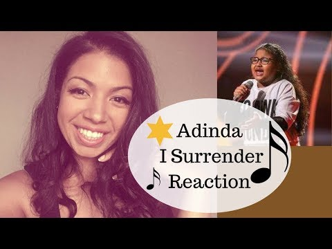Adinda I Surrender Reaction let's sing kids 2016  (video #19 of the 20 day daily video series)