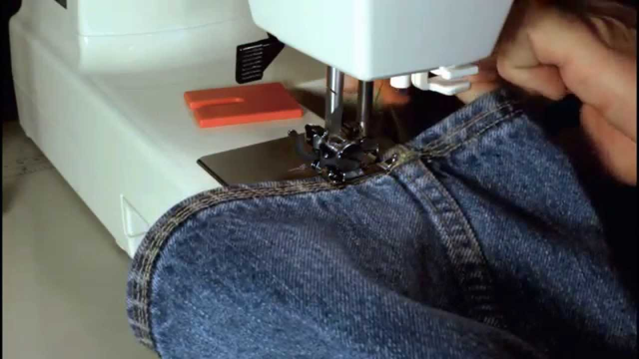 janome hd 1000 sewing denim and home deco fabric youtube