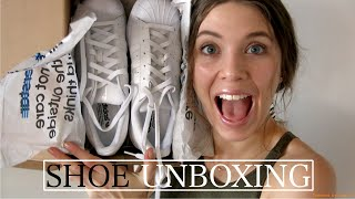 Adidas Superstar All White Unboxing & Try On