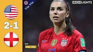 Semi - Final  USA vs England 2-1 All Goals  Highlights  2019 WWC