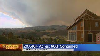 Spot Fire At Cameron Peak Fire Advances Toward Glen Haven