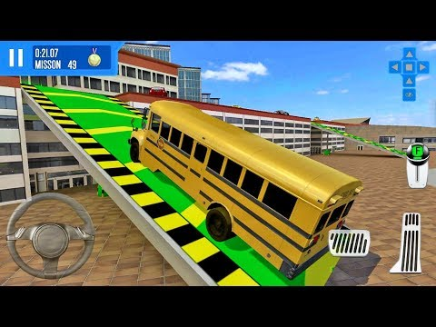 City Driver Roof Parking Challenge #8 Bus Unlocked! - Android IOS Gameplay