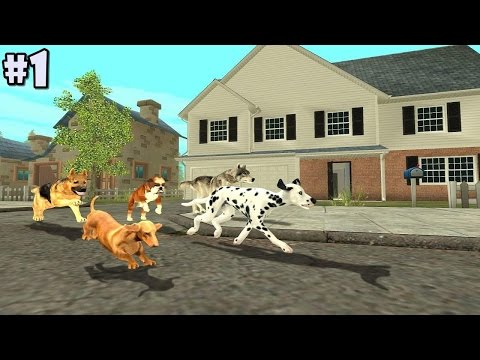 Dog Sim Online By Turbo Rocket Games - Android / iOS - Gameplay part 1