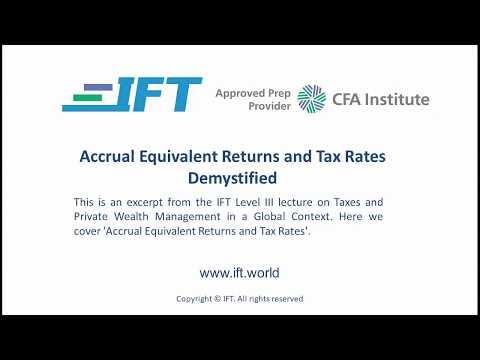 Level III CFA: Accrual Equivalent Returns and Tax Rates