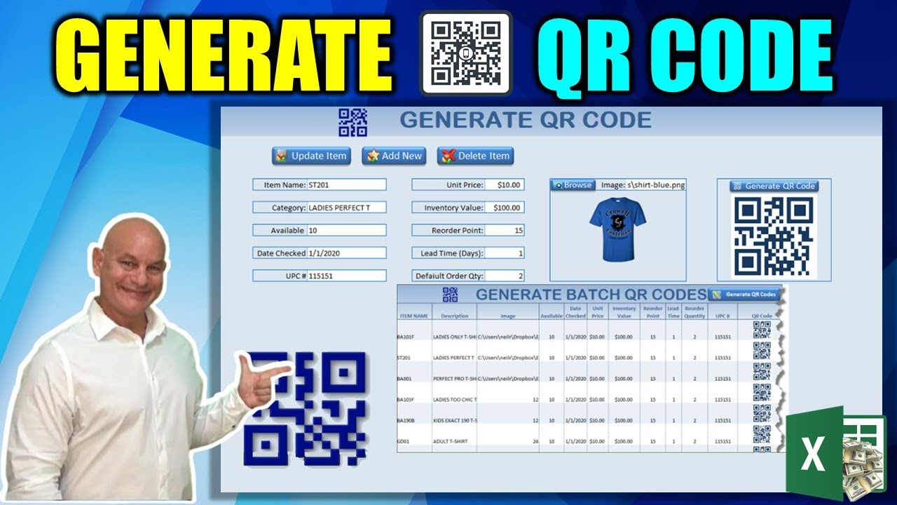 How To Generate Single & Batch QR Codes With Excel [Free Download]