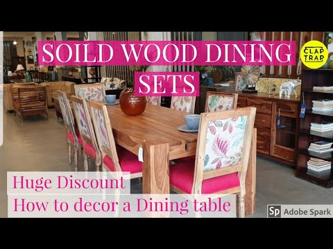 SOLID WOOD DINING SET | AMAZING HOME IDEAS FOR DINNER TABLE