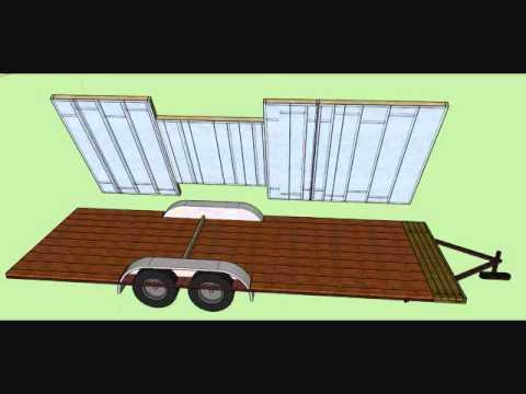 Tiny House on Wheels Floor frame sheathing insulation and sub