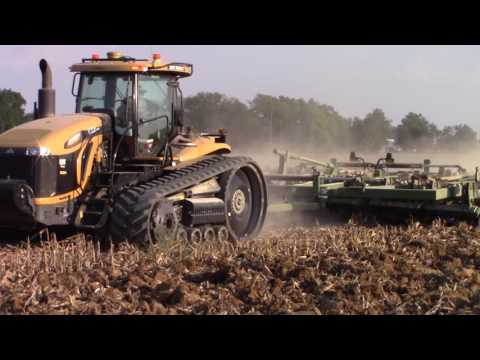 585 hp Challenger MT875C Tractor with a Big Wishek Disk