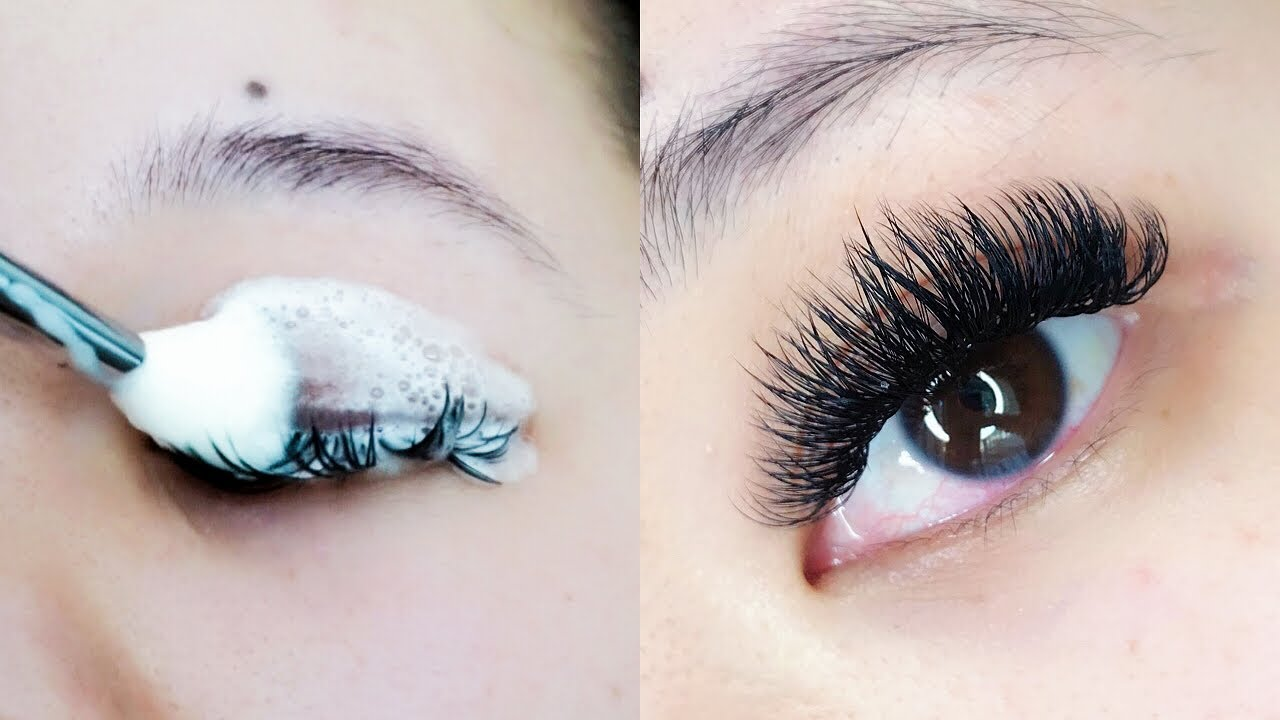How To Clean Lash Extensions Youtube How To Clean Lashes Eyelash Extensions Care Lash Extensions