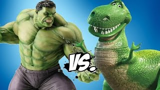HULK VS REX (Toy Story) - EPIC BATTLE