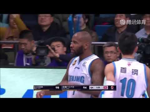 Aaron Jackson Beijing Ducks (CBA) 2018-2019 left-hand finishing