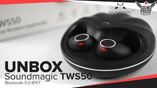 UNBOX Soundmagic TWS50 Bluetooth5.0 IPX7 True Wireless Earphones By Soundproofbros