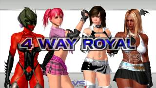 [Rumble Roses XX] 4-Way Exhibition Match Evil Rose Vs Aisha Vs Candy Cane Vs Reiko