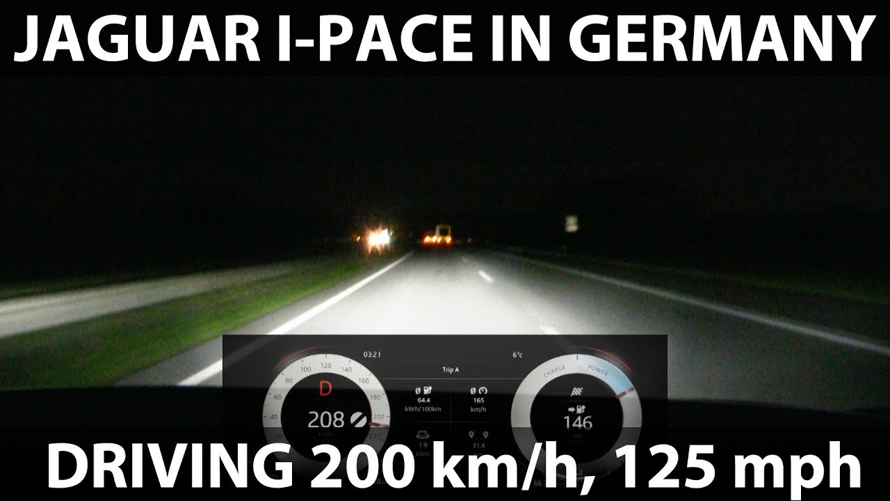 200 Kph To Mph >> Driving I Pace 200 Km H 125 Mph In Germany