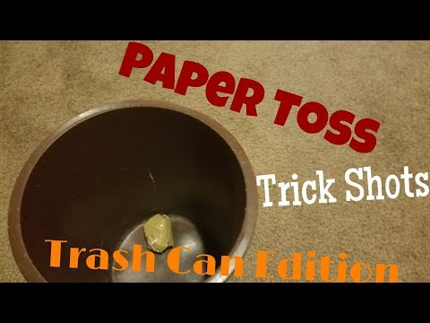 Paper Toss Trick Shots | Trash Can Edition (16)