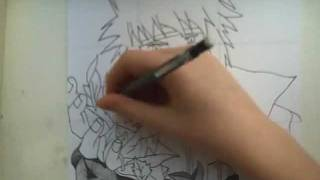 HOW TO DRAW THE 4TH HOKAGE