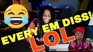 """Every Diss On EMINEM's """"Music To Be Murdered By"""" Album MGK, Cardi B, Jamar, Mumble Rap etc Reaction"""