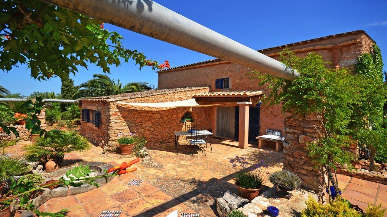 Casa de campo con casa de invitados y jardin mallorca inmobiliaria youtube - Casa de campo mallorca ...