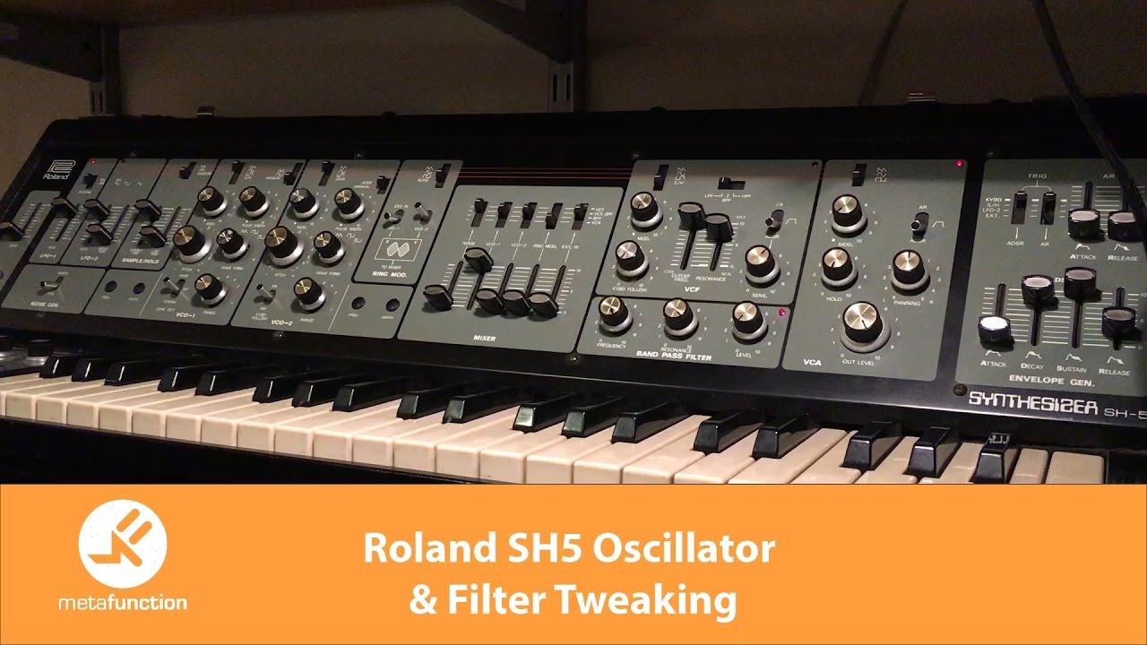 Roland SH5 Oscillator & Filter Tweaking