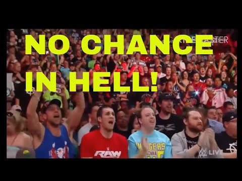 WWE UNIVERSE SINGING NO CHANCE IN HELL! VINCE McMAHON'S THEME. RAW AFTER WRESTLEMANIA