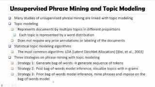 DATA MINING   4 Pattern Discovery in Data Mining   7 2  Previous Phrase Mining Methods