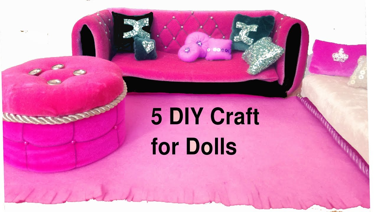 Diy Dollhouse Furniture And Barbiedoll Crafts Youtube