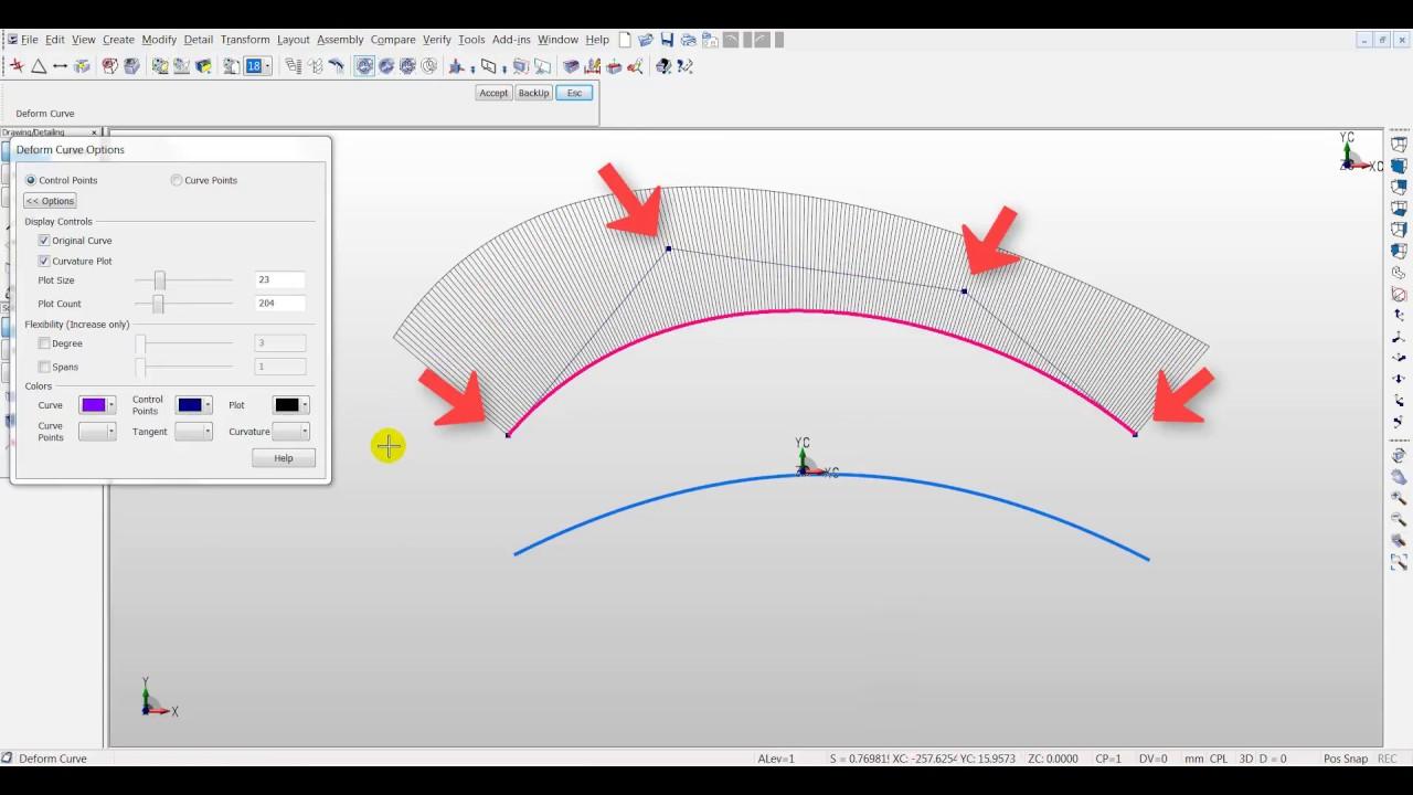 NURBS Curves - Curve Points vs  Control Points