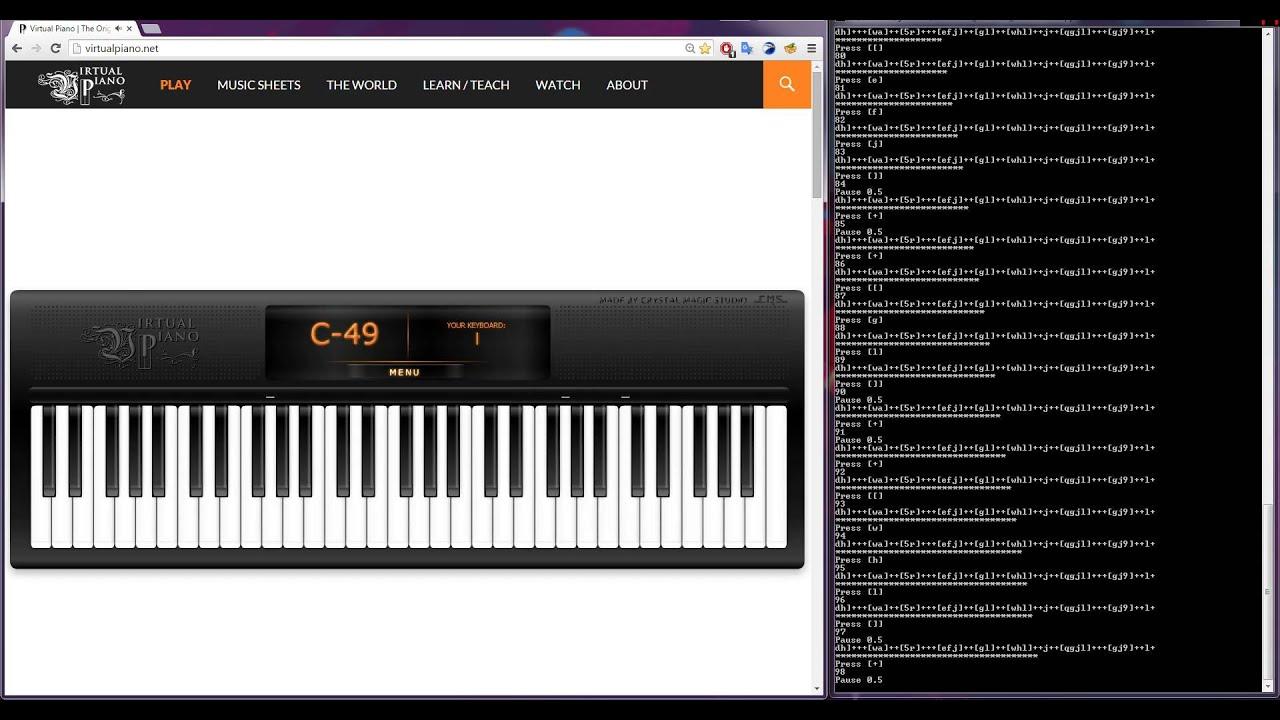 Minecraft Mice On Venus Automatic Virtual Piano Cover Youtube