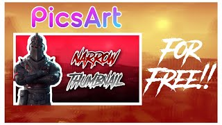 How To Make Insane Fortnite Thumbnails For Free On iOS and Android using PicsArt!!